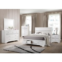 Miranda Contemporary White Eastern King Five-Piece Set