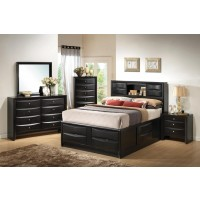 Briana Transitional Black Eastern King Four-Piece Bedroom Set