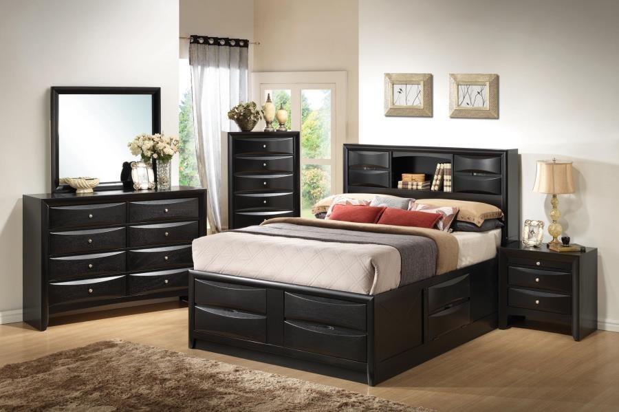 Briana Transitional Black California King Five-Piece Bedroom Set ...