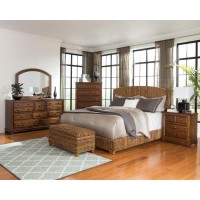 Laughton Rustic  Brown Queen Four-Piece Set