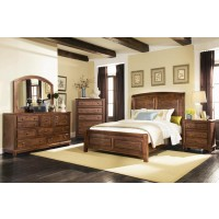 Laughton Rustic Brown Queen Five-Piece Set