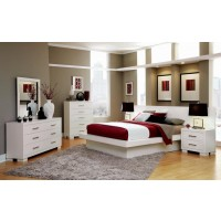 Jessica Contemporary White Eastern King Four-Piece Set