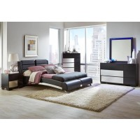 Felicity Contemporary Black Eastern King Four-Piece Set