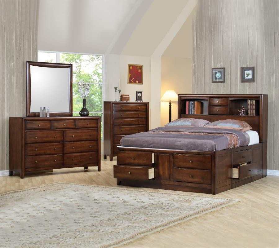 Hillary and Scottsdale Cappuccino California King Four-Piece Bedroom ...