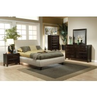 Phoenix Transitional Beige California King Five-Piece Set