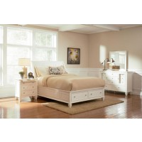 Sandy Beach White King Four-Piece Bedroom Set