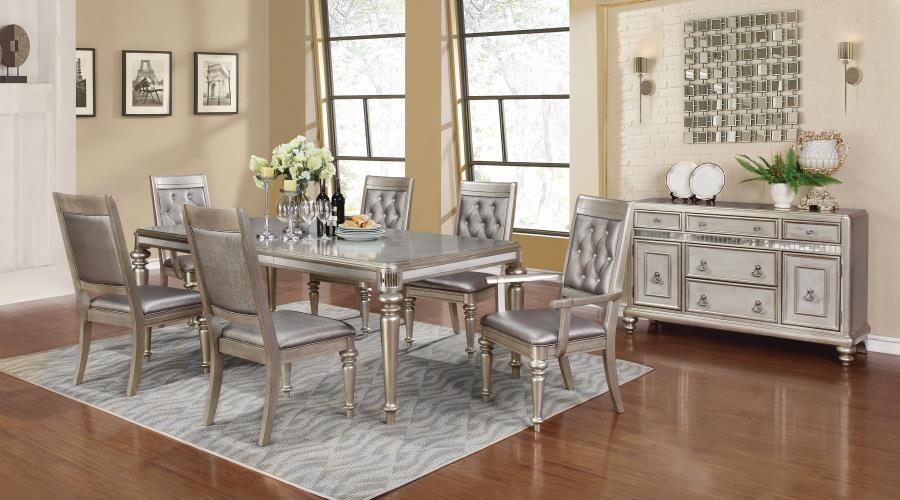 Danette Metallic Five-Piece Dining Set