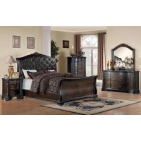 Maddison Brown Cherry King Five-Piece Bedroom Set