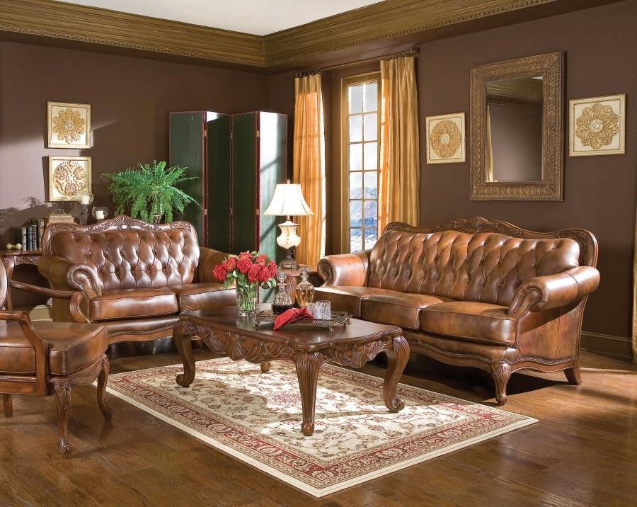 Great Victoria Traditional Tri Tone Three Piece Living Room Set