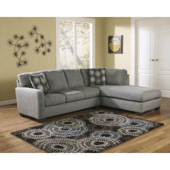 Zella - Charcoal 2 Pc. RAF Corner Chaise Sectional