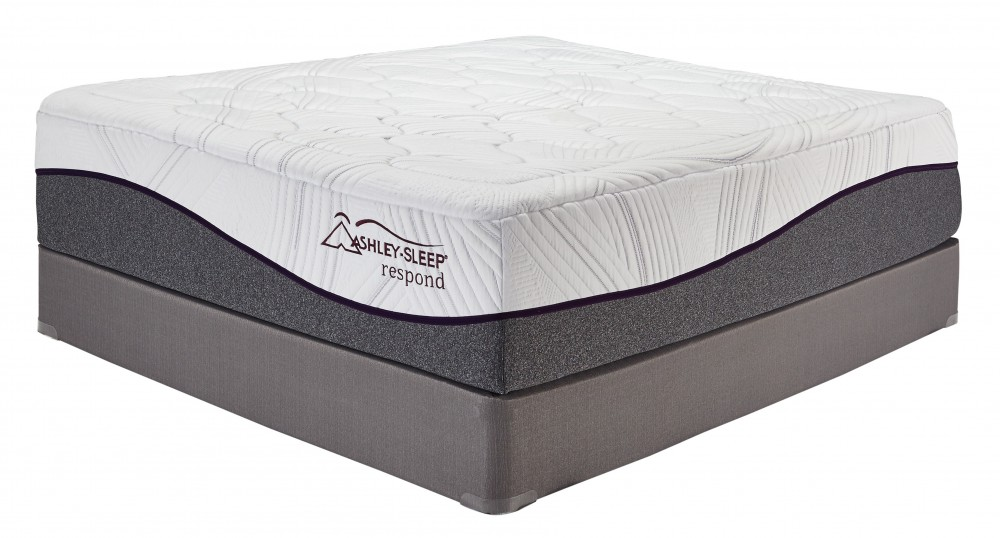 16 Inch Respond Series Memory Foam - White - California King Mattress