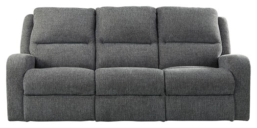 Krismen Charcoal Pwr Rec Sofa With Adj Headrest Reclining