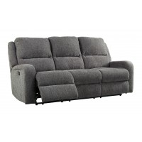 Krismen - Charcoal - PWR REC Sofa with ADJ Headrest