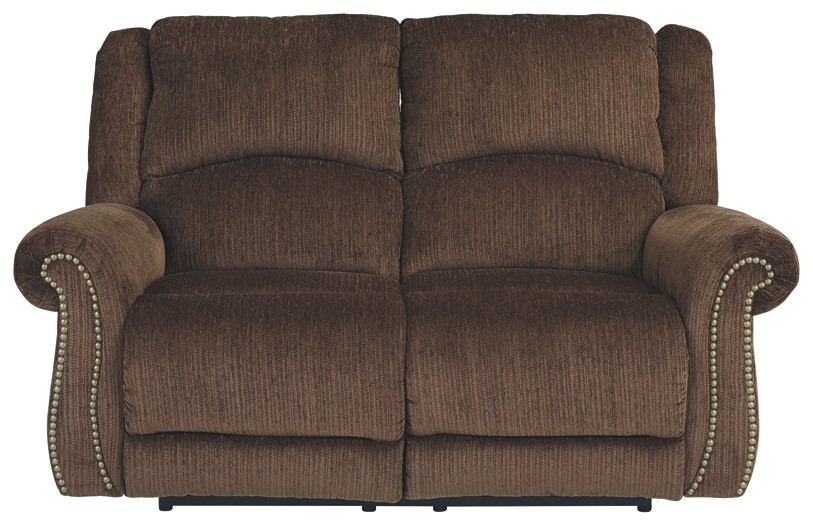 Goodlow - Chocolate - PWR REC Loveseat/ADJ Headrest