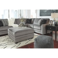 Bicknell - Charcoal - Ottoman With Storage