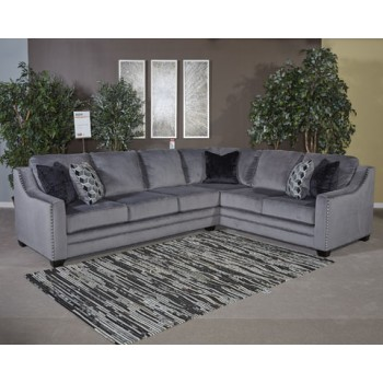 Bicknell - Charcoal - LAF Sofa w/Corner Wedge