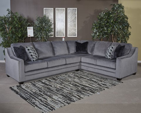 Bicknell   Charcoal   LAF Sofa W/Corner Wedge