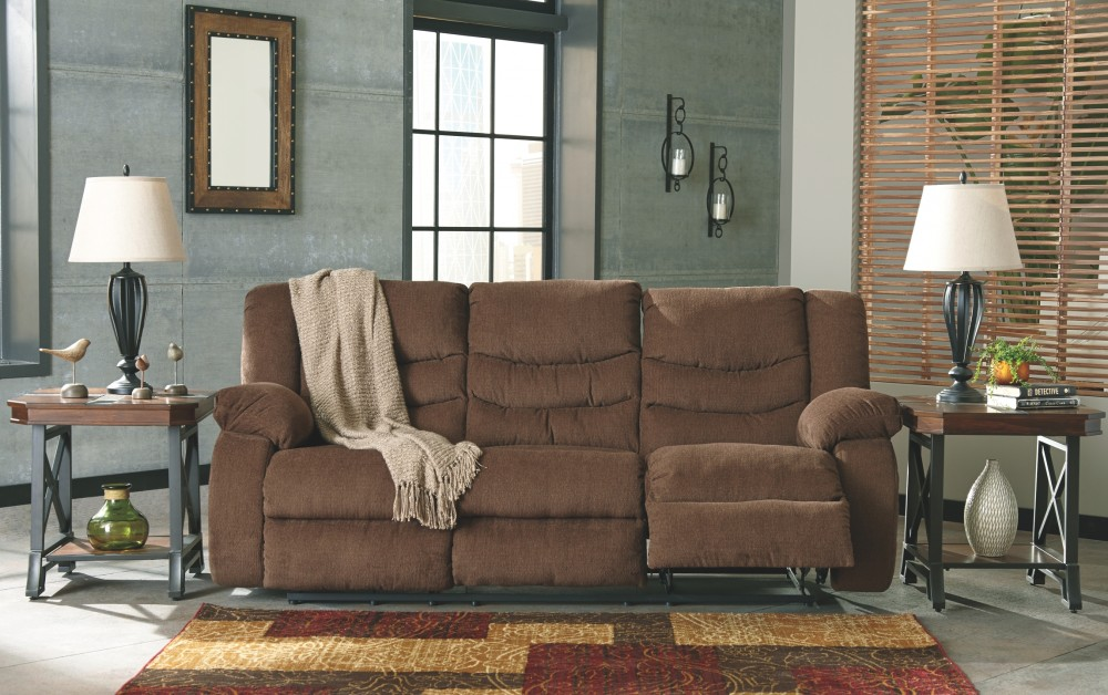 Tulen Chocolate Reclining Sofa 9860588 Reclining