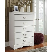 Anarasia - White - Five Drawer Chest