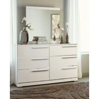 Brillaney - White - Bedroom Mirror