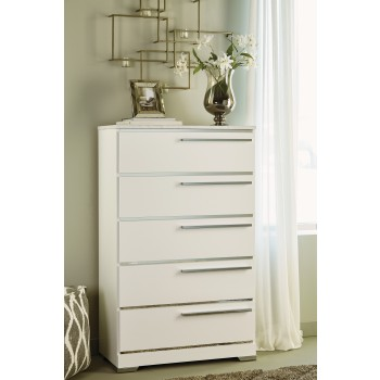 Brillaney - White - Five Drawer Chest