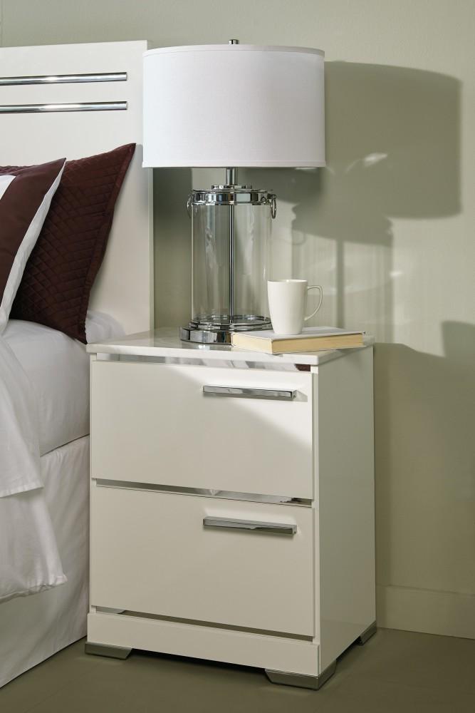 Brillaney - White - Two Drawer Night Stand