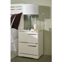 Brillaney - White - Two Drawer Night Stand