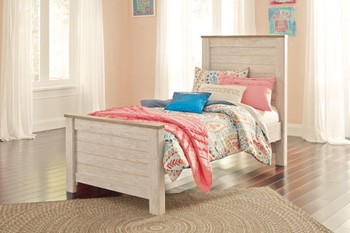 Willowton - Whitewash - Twin Panel Footboard