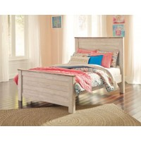 Willowton - Whitewash - Full Panel Footboard