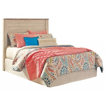Willowton - Whitewash - Full Panel Headboard