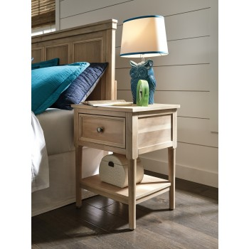 Klasholm - Light Brown - One Drawer Night Stand
