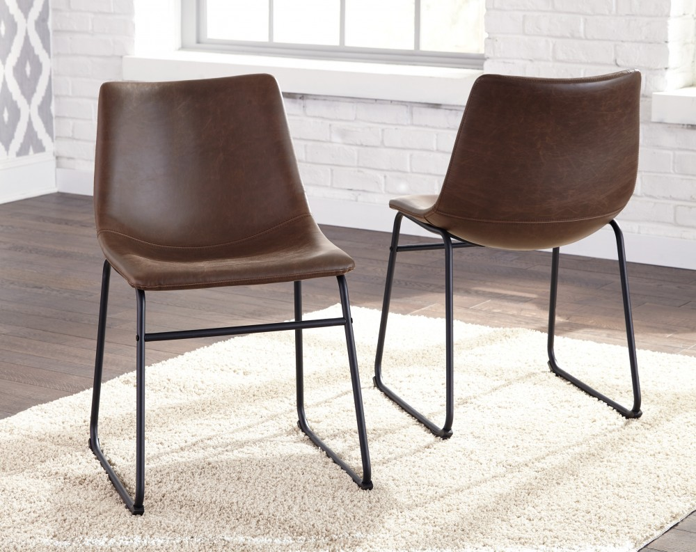 Centiar - Two-tone Brown - Dining UPH Side Chair (2/CN)