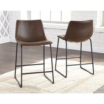 Centiar - Two-tone Brown - Upholstered Barstool (2/CN)