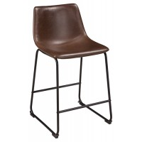 Centiar Two Tone Brown Upholstered Barstool 2 Cn