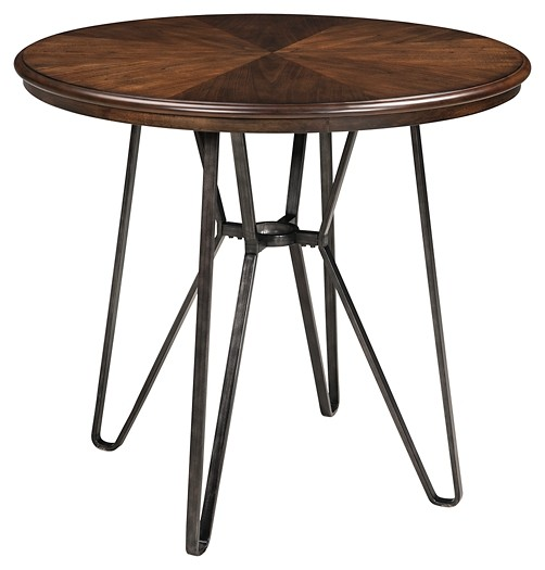 Centiar - Two-tone Brown - Round DRM Counter Table