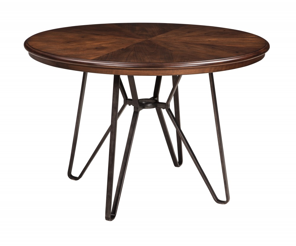 Centiar - Two-tone Brown - Round Dining Room Table