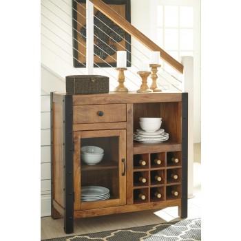 Glosco - Brown - Wine Cabinet