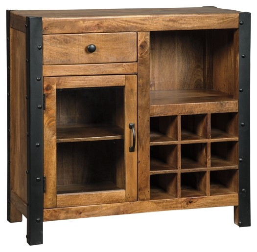 Glosco - Brown - Wine Cabinet