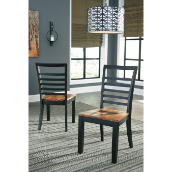 Quinley - Two-tone Brown - Dining Room Side Chair (2/CN)
