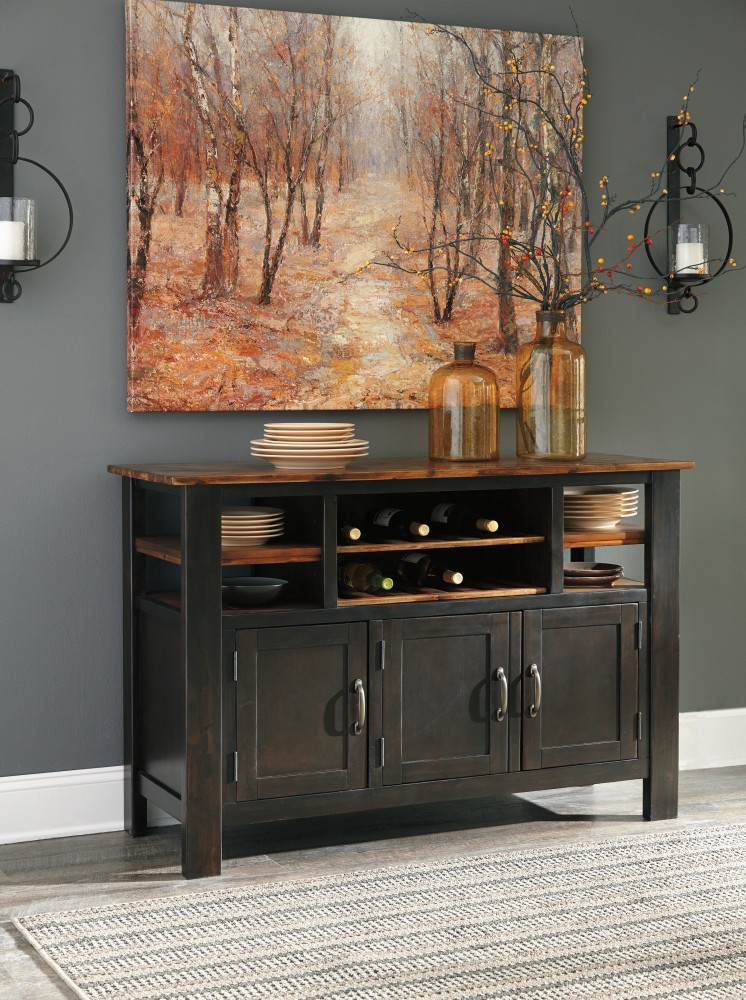 Quinley - Two-tone Brown - Dining Room Server | D645-60 | Servers ...