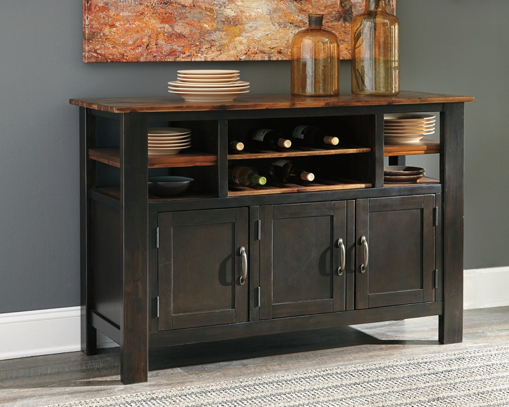 Quinley   Two Tone Brown   Dining Room Server | D645 60 | Servers ...