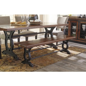 Zurani - Brown/Black - Large Dining Room Bench