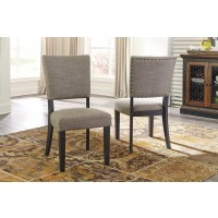 Zurani - Brown/Black - Dining UPH Side Chair (2/CN)