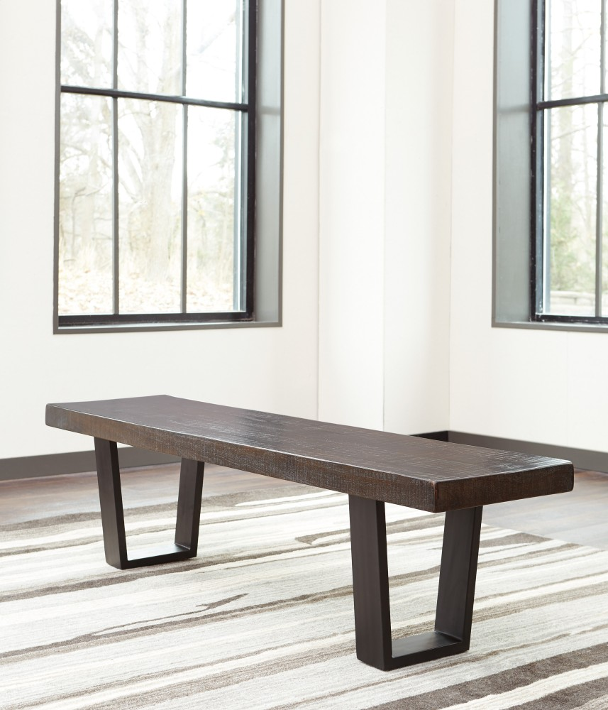 Parlone - Dark Brown - Large Dining Room Bench