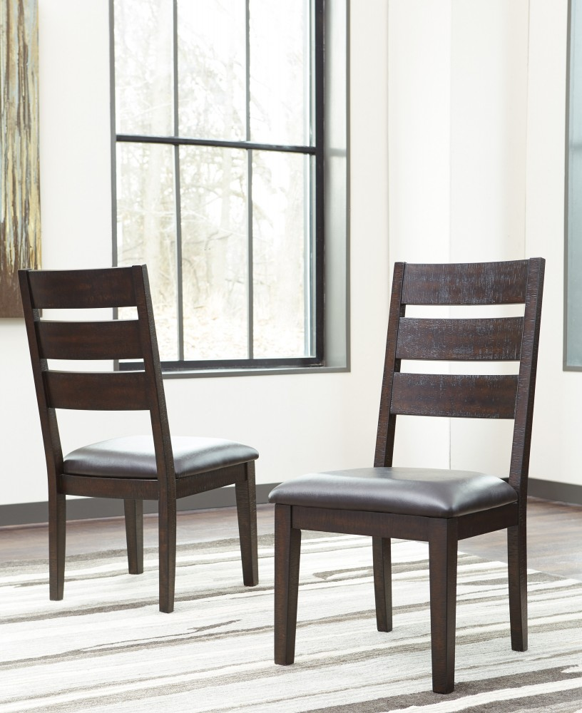 Parlone - Dark Brown - Dining UPH Side Chair (2/CN)