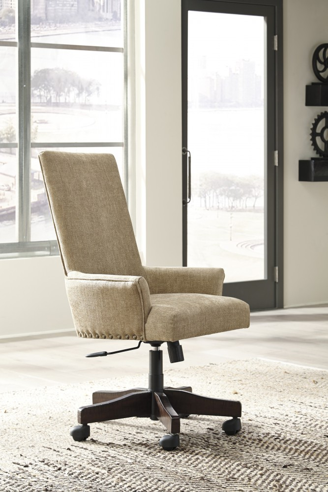 Baldridge - Rustic Brown - UPH Swivel Desk Chair