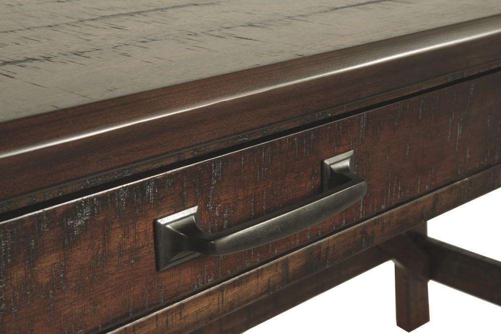 various colors d1222 4226b Baldridge - Rustic Brown - Home Office Large Leg Desk