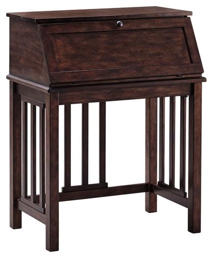 Harpan - Reddish Brown - Home Office Drop Front Desk