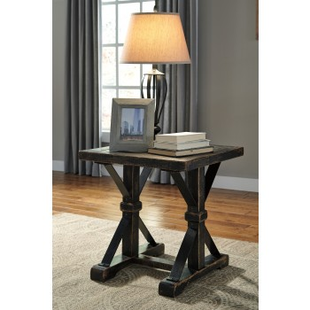 Beckendorf - Black - Square End Table