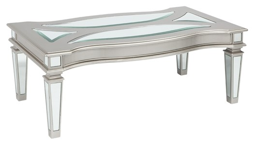 Tessani - Silver Finish - Rectangular Cocktail Table